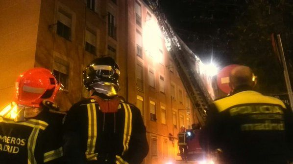 Incendio en Vallecas