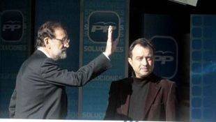 Rajoy y Cobo, en la sede de Génova del PP (archivo)