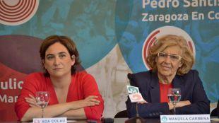 Carmena y Colau intercambiarán sus alcaldías: inocente, inocente