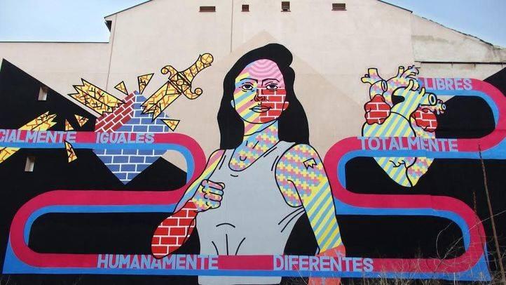 Mural de Toni Arribas 'el rey de la ruina'