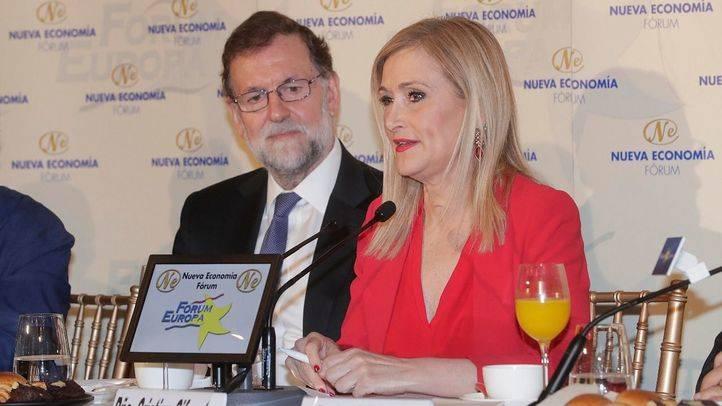 Cristina Cifuentes junto a Mariano Rajoy.