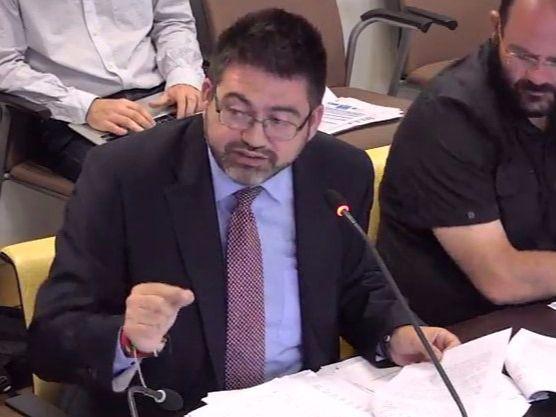 Carlos Sánchez Mato, en la comisión de Economía