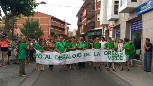 Protesta de los alumnos de la asociación y del AMPA del instituto.