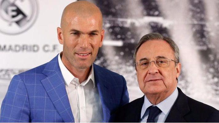 Zinédine Zidane y Florentino Pérez