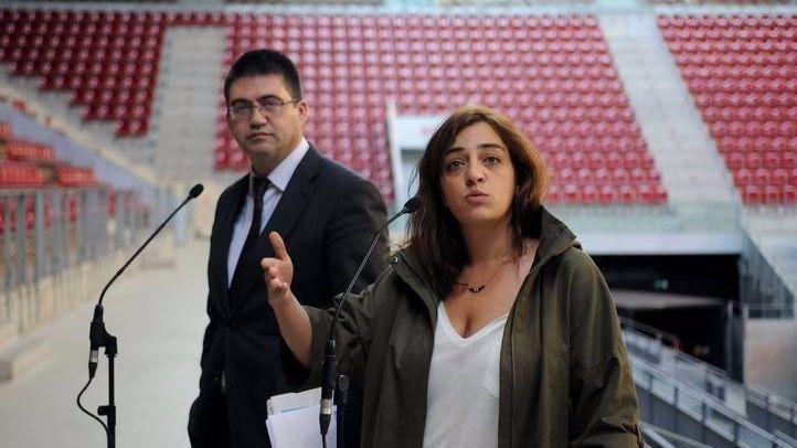 Sánchez Mato y Celia Mayer (archivo)
