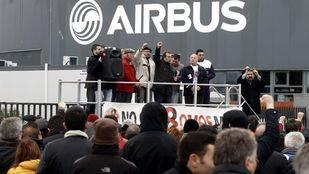 Concentración de apoyo a 'los ocho de Airbus' en Getafe