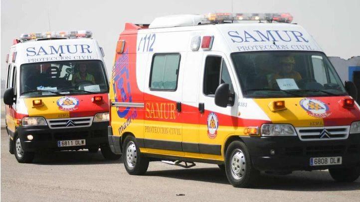 Ambulancias SAMUR en la calle (archivo)