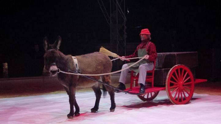 Dos circos se manifiestan ante el Pleno de Arganzuela para que no se prohíban los espectáculos con animales