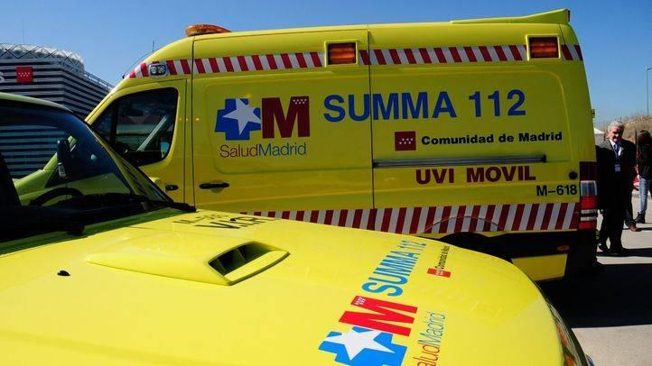 Tres heridos en un choque frontal entre dos turismos en Hoyo de Manzanares