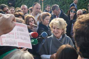 Aguirre, en un acto cuando todavía era portavoz del PP en el Ayuntamiento. (Archivo)
