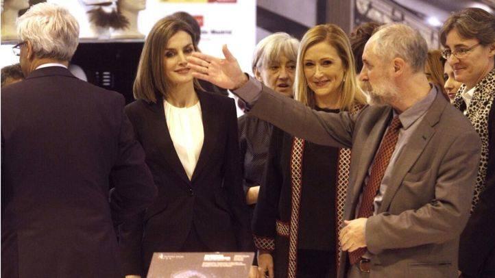 La reina Letizia, con Cristina Cifuentes, Marta Higueras y Luis Cueto en Fitur
