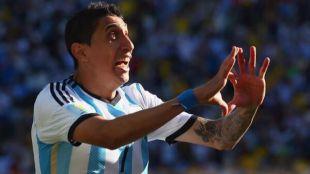 Di María, en un partido con la selección argentina.