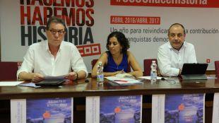Jaime Cedrún durante la jornada sobre la sostenibilidad del sistema público de pensiones organizada por CCOO