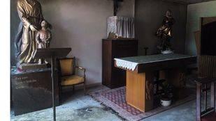 Imagen de la capilla atacada.