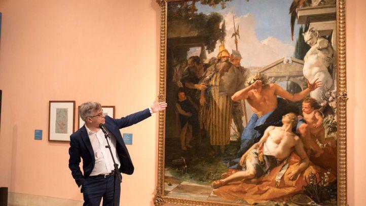 El director del museo, Guillermo Solana, ha presentado el cuadro.