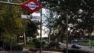 Estación de Begoña del Metro junto al nudo norte de la M-30.