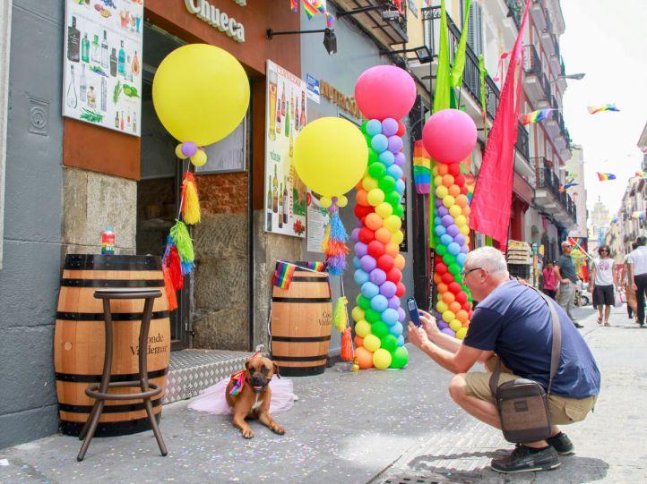 Decoración para el World Pride 2017 en el Barrio de Chueca