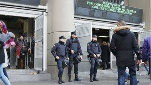 Dispositivo de seguridad en el Bernabéu para el clásico