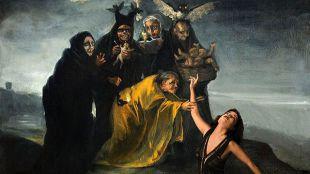 De la Rue actualiza con Brujas, metamorfosis de Goya la pintura del artista incluyendo a actrices españolas