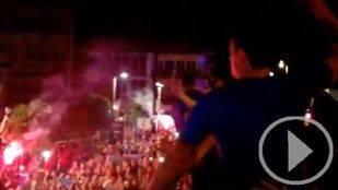 El Getafe celebra su ascenso a Primera División