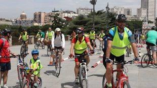 Arrancan los nuevos itinerarios ciclistas de Madrid