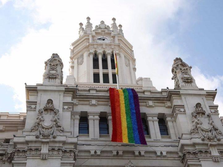La bandera de los madrileños