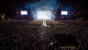 Vista general del Download Festival, celebrado este fin de semana en la Caja Mágica.