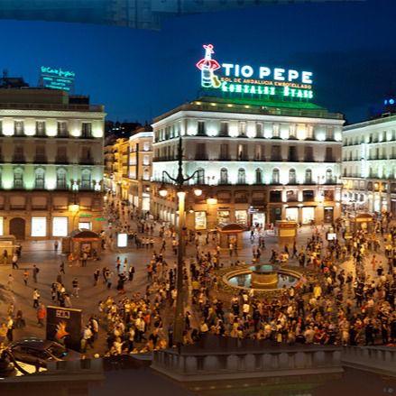 Panorámica de la Puerta del Sol.