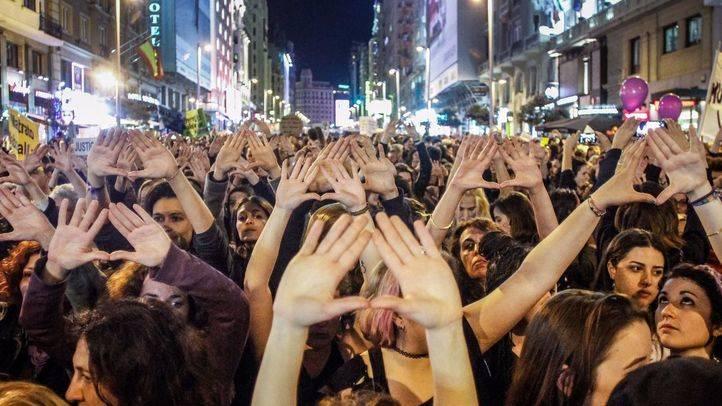 Foro de archivo de la manifestación celebrada en Madrid el Día Internacional de la Mujer.