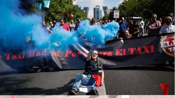 Los taxistas toman de nuevo las calles para reclamar medidas contra las VTCs