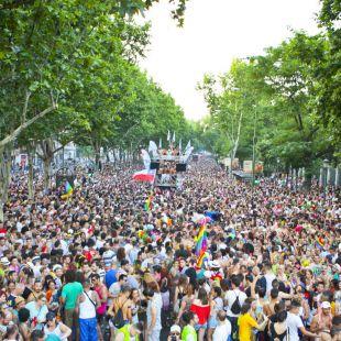 Cortes en el centro por la manifestación LGTBI