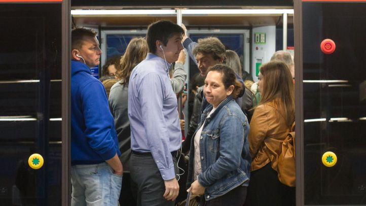 Uno de los paros de los maquinistas de Metro