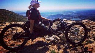 Gema Hassen-Bey con su bicicleta