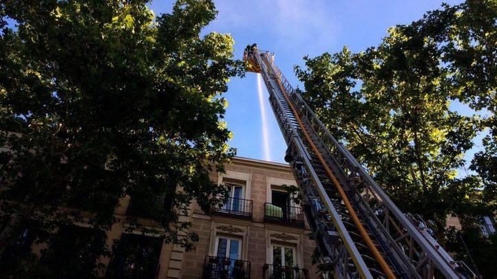 Incendio en una vivienda de la calle Atocha