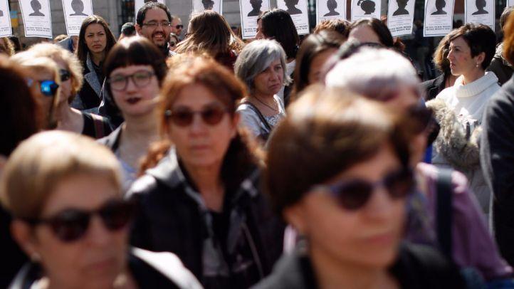 Foto de archivo: concentración en Sol por el Día Internacional de la Mujer.
