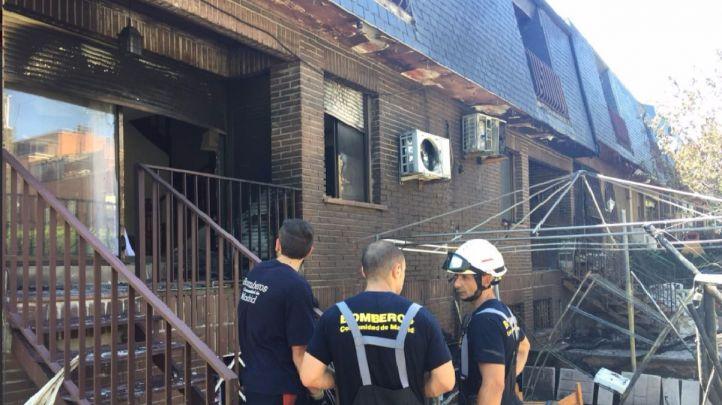 La vivienda afectada tras la intervención de los bomberos.