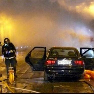 Un incendio colapsa la M-30