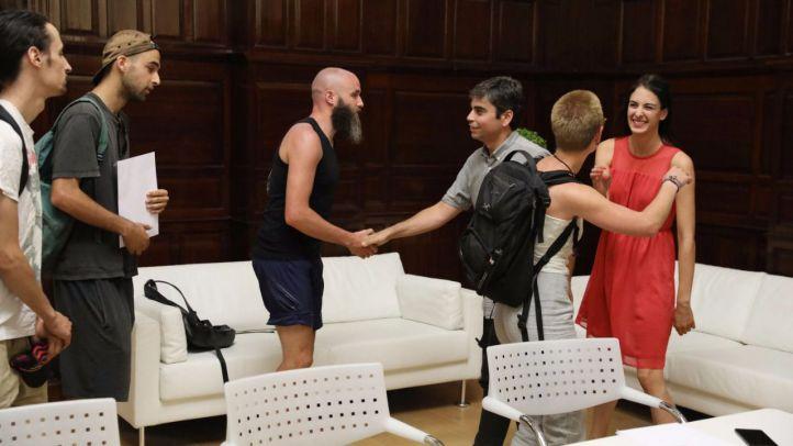 Maestre, Sánchez Mato y Castaño muestran su apoyo a los repartidores de Deliveroo