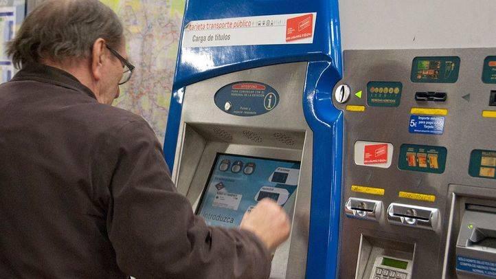 Máquina expendedora de billetes y abonos en el Metro de Madrid