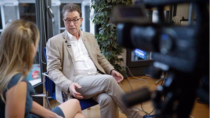Entrevista a Jaime Cedrún, secretario general de CCOO Madrid, en la Terraza de Gran Vía.