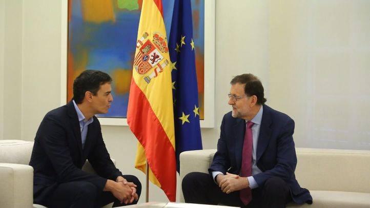 Reunión en Moncloa entre Pedro Sánchez y Mariano Rajoy
