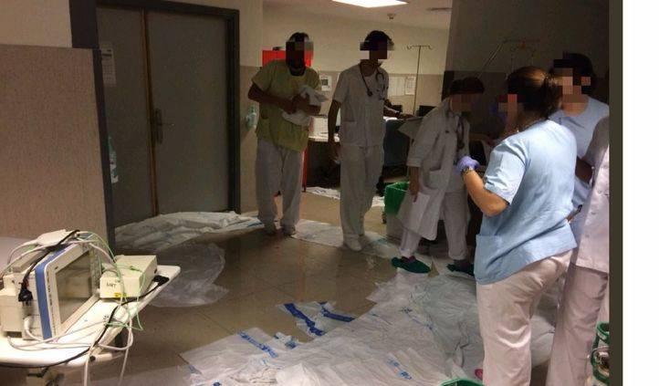 CCOO achaca las inundaciones de los hospitales a los recortes