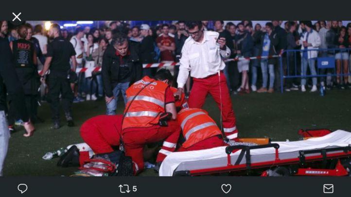Muere un acróbata tras caer desde 30 metros durante su performance en el Mad Cool