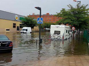 El municipio de Coslada inundado por las fuertes lluvias