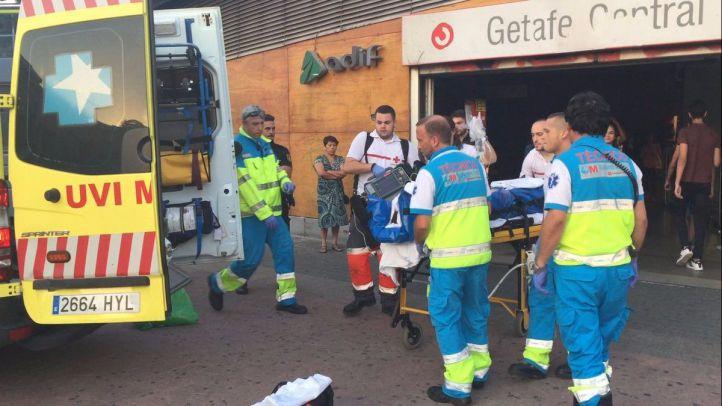 Un hombre se precipita desde seis metros en la estación de Getafe Central