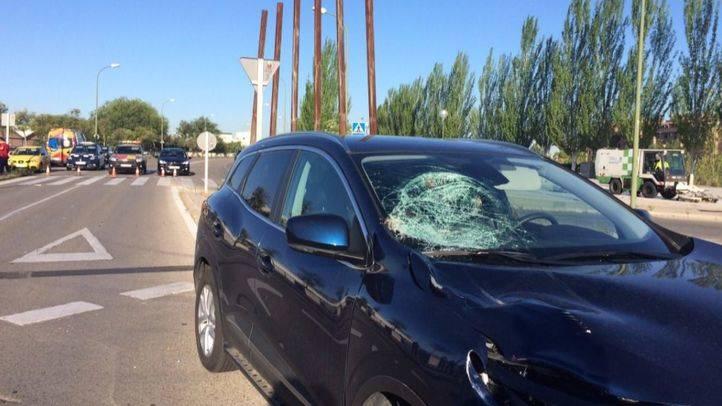 El estado en el que ha quedado el vehículo tras el atropello