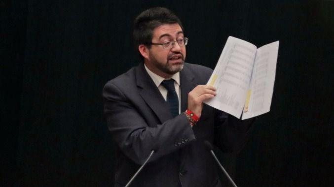 Sánchez Mato, en el Pleno del Ayuntamiento de Madrid. (Archivo)