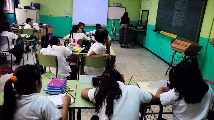 Estudiantes de un colegio público. (Archivo)