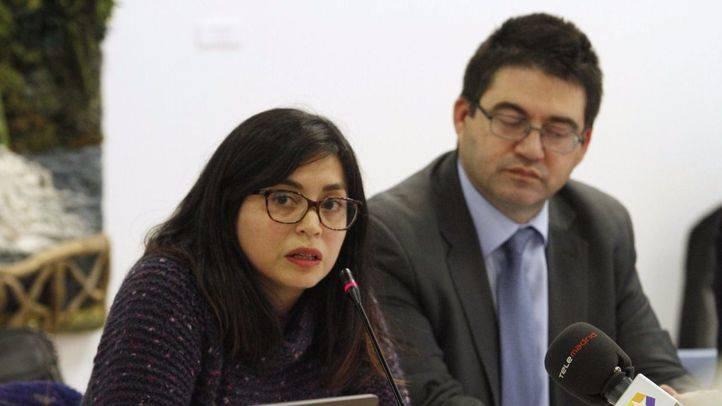 Rommy Arce y el delegado de Economía y Hacienda, Carlos Sánchez Mato. (Archivo)