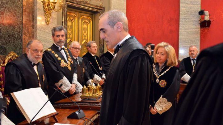 Alejandro Luzón durante su nombramiento como jefe de Anticorrupción